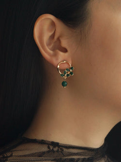 CHARLOTTE Earrings - Green *S925 Earposts