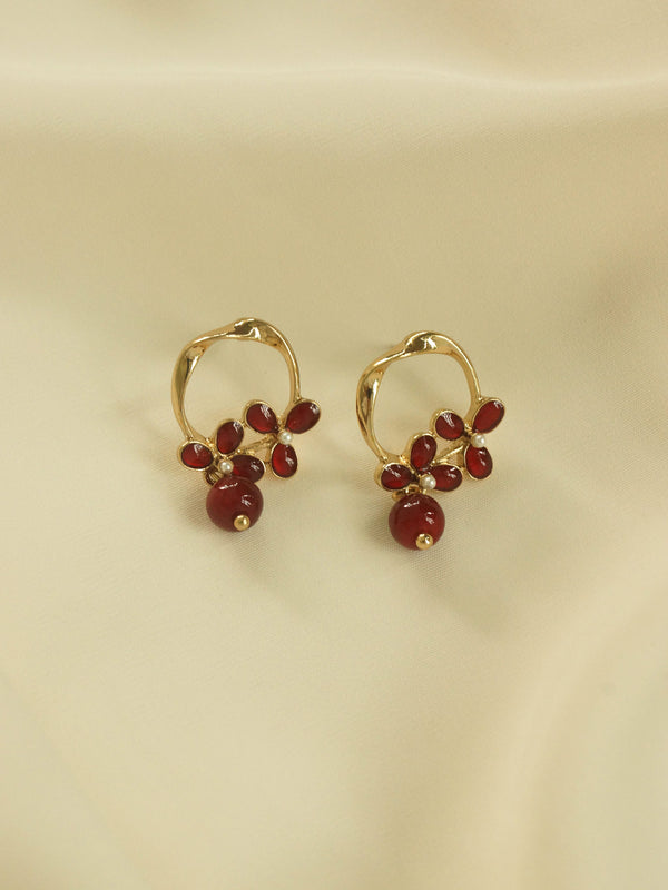Charlotte Earrings - Red *S925 Earposts