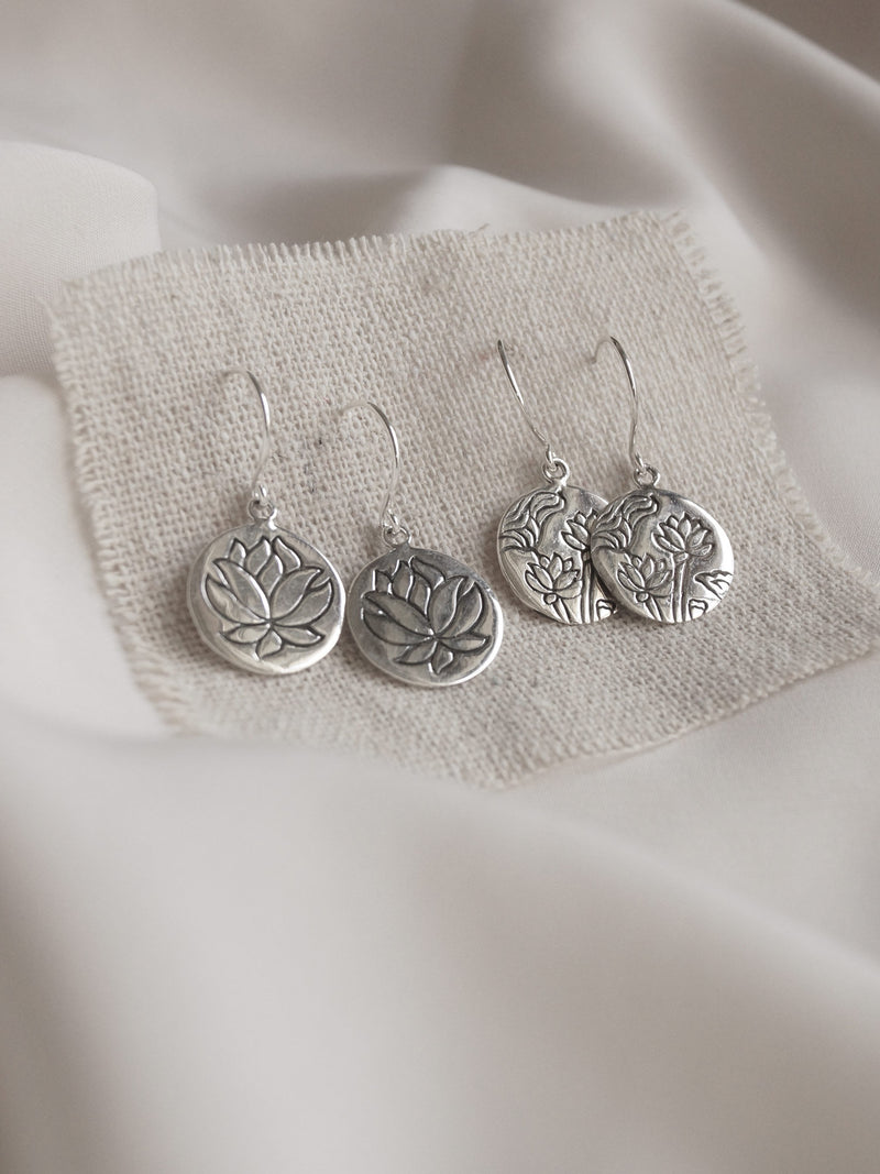 LOTUS Earrings *925 sterling silver // GABI EXCLUSIVE