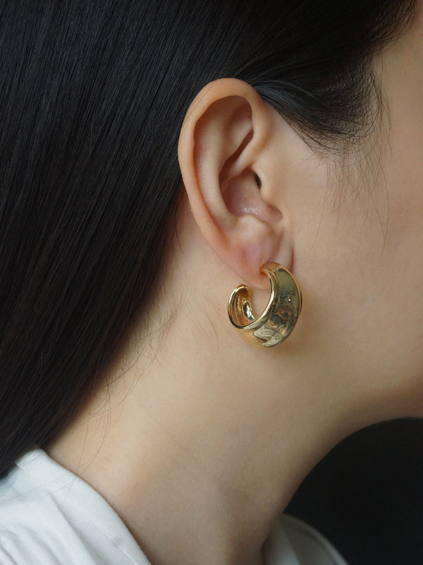 Chunky Hoops *14k Gold-plated