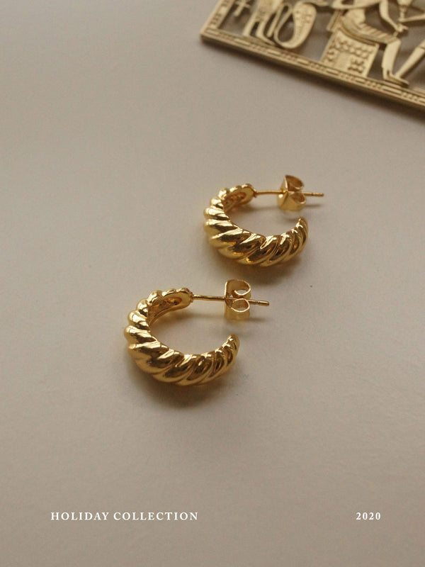 Braided Hoops *18K Gold-plated