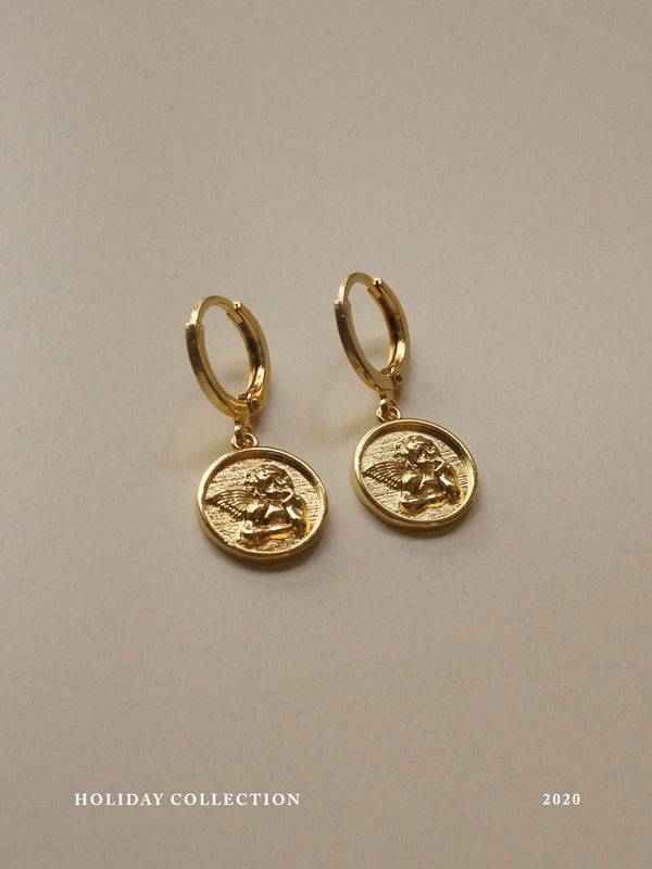 Endless Love Cupid Huggies *18k Gold-plated