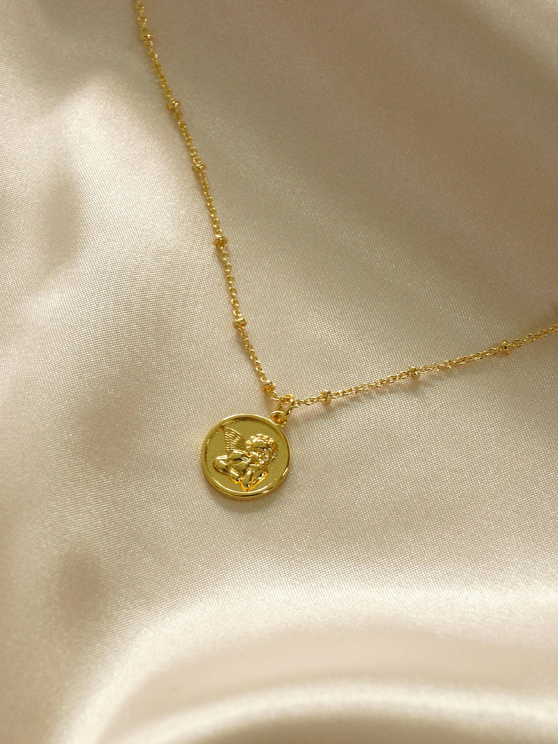 Endless Love Cupid Necklace *18K Gold-plated