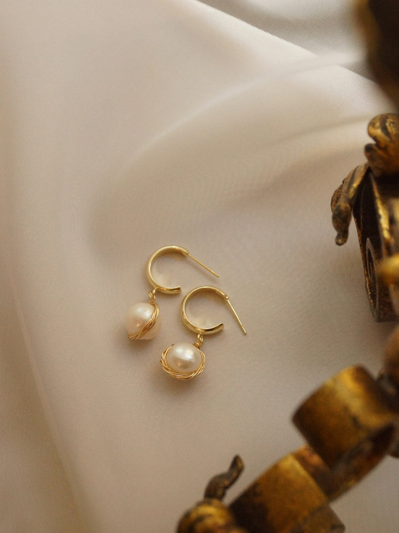 DITA Pearl Earrings *14k Gold-filled (GABI PREMIUM)