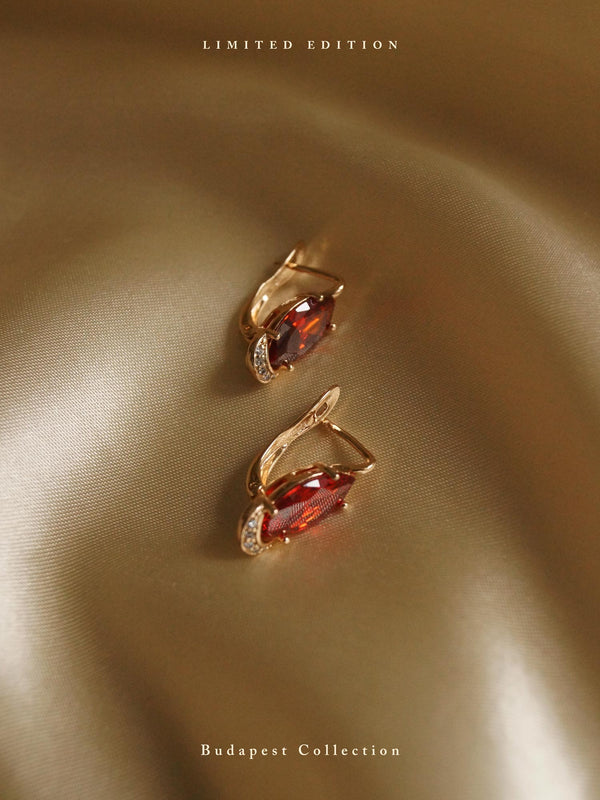 DORIKA Earrings - Garnet *Gold-plated // GABI EXCLUSIVE