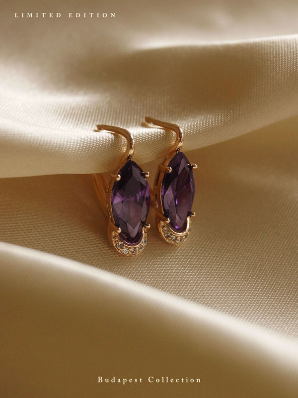 DORIKA Earrings - Amethyst Purple *Gold-plated // GABI EXCLUSIVE