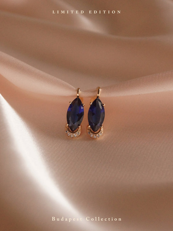 DORIKA Earrings - Dark Blue *Gold-plated // GABI EXCLUSIVE