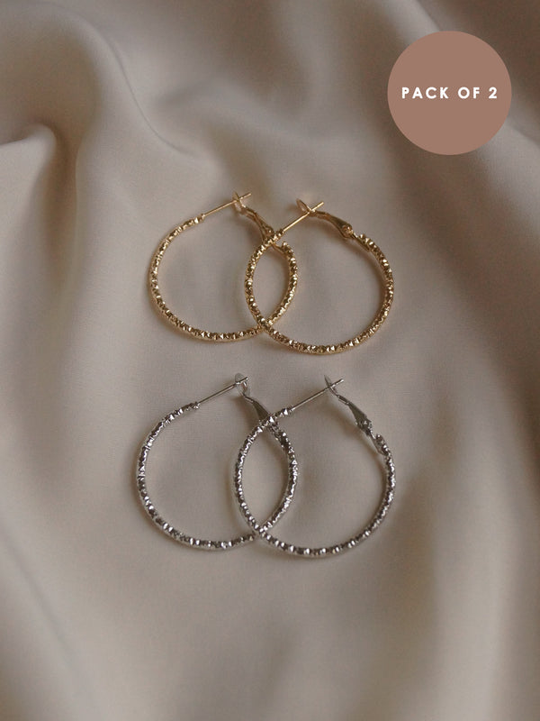 EKA Hoops (Set of 2) - Gold & Silver