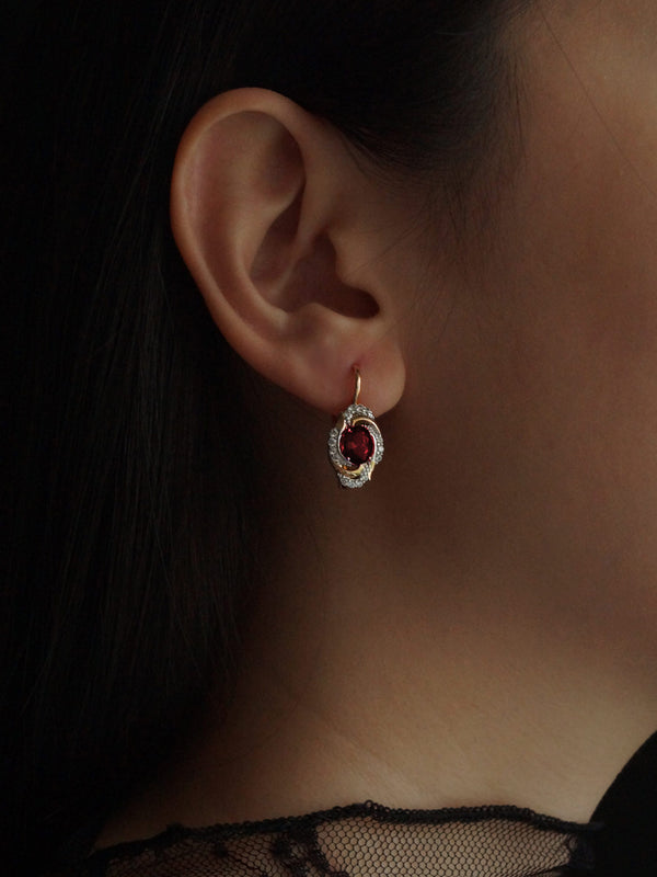 ERZSI Earrings - Ruby Red *Gold-plated // GABI EXCLUSIVE