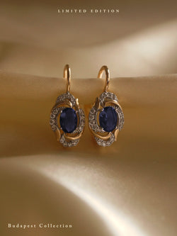 ERZSI Earrings - Dark Blue *Gold-plated // GABI EXCLUSIVE