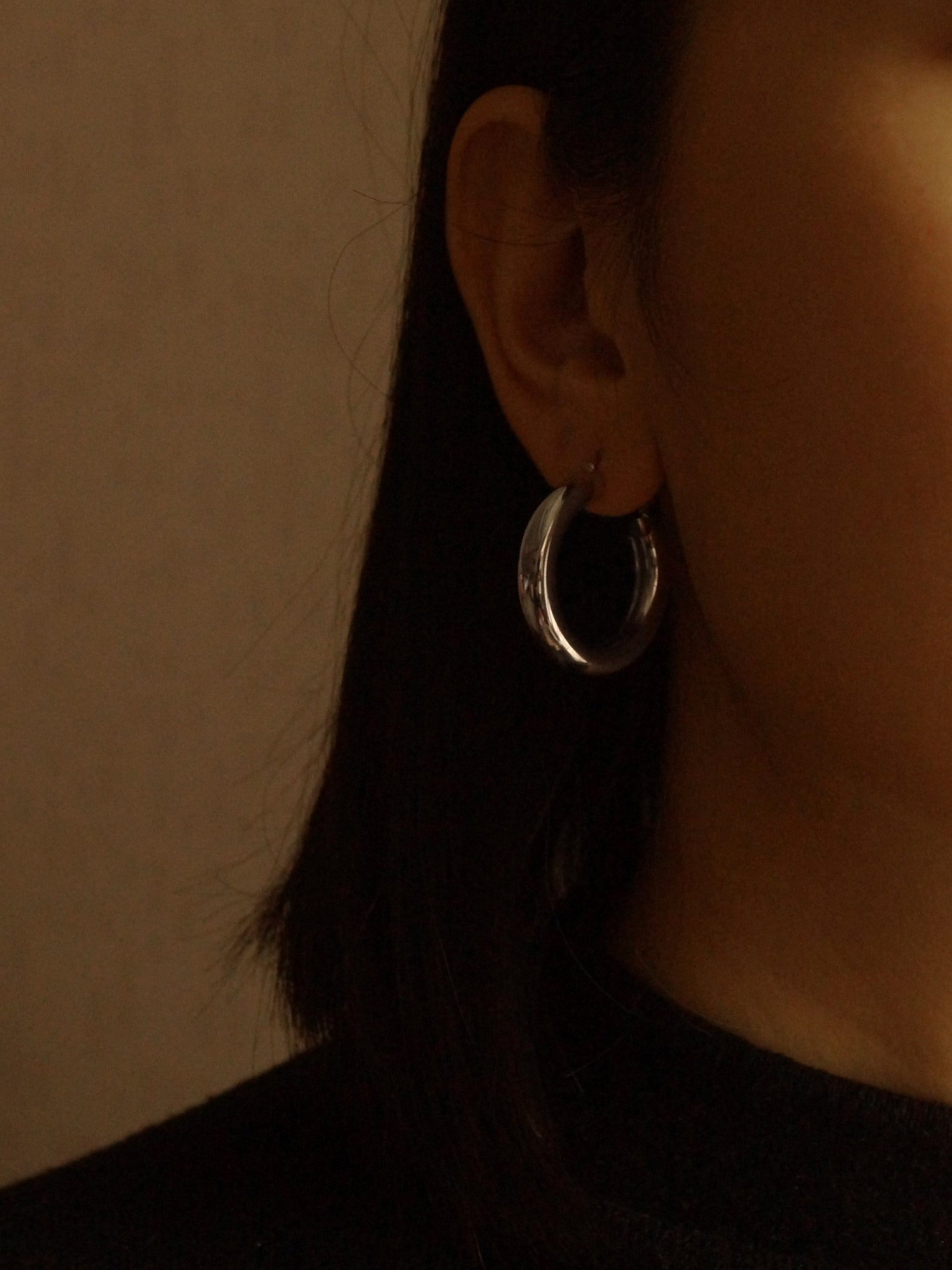 Ane Small Hoops - Silver