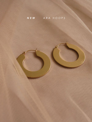 Ara Hoop Earrings - Silver