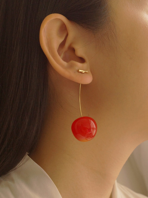 Cher (Cherry) Earrings *Gold-plated stems