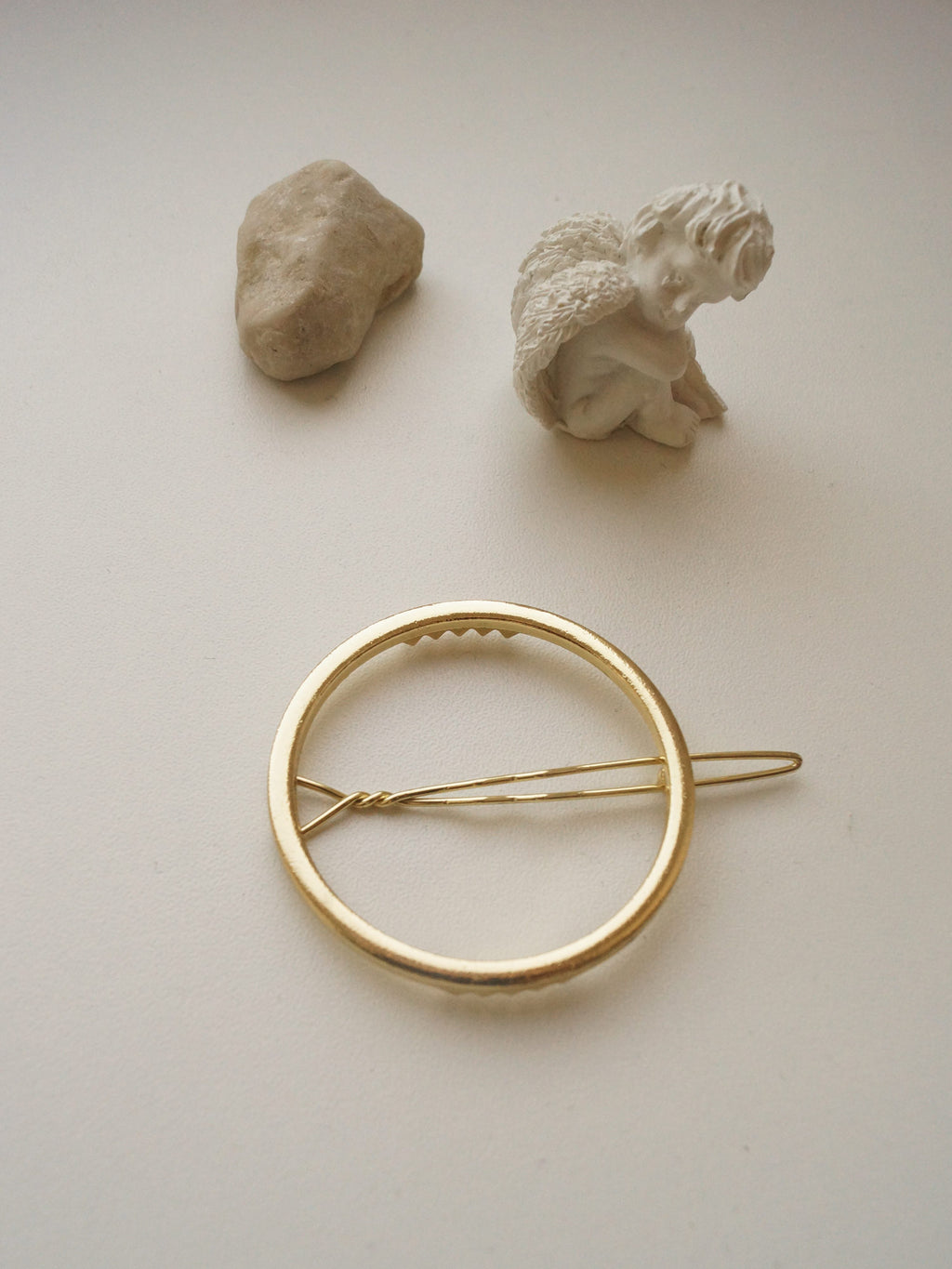 Gold Circle Barrette