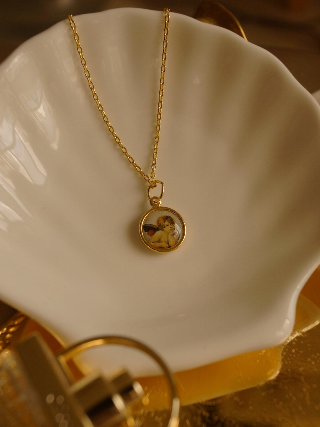 GABI EXCLUSIVE // CUPID Necklace - Round *18K Gold plated S925