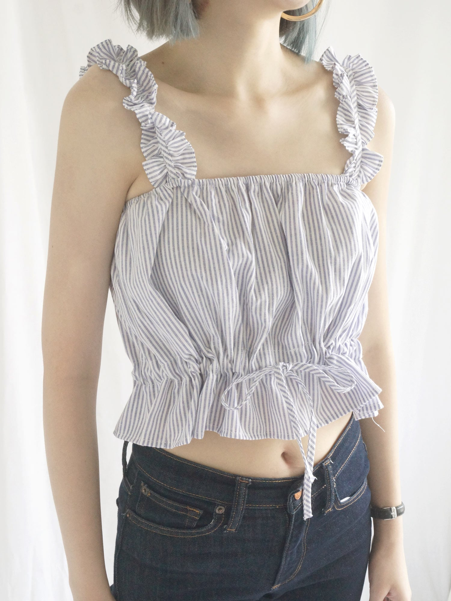 Elle Ruffles Top - Brick Red