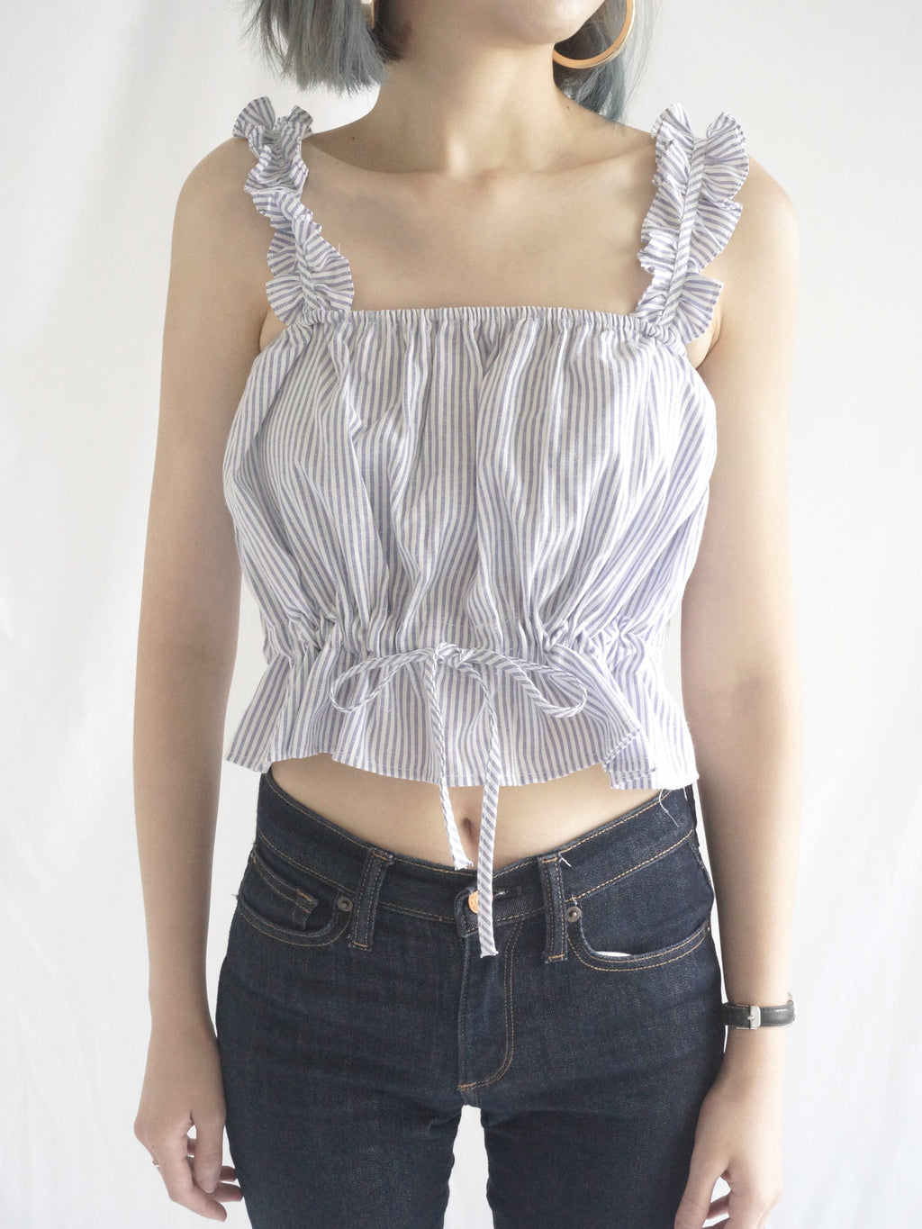Elle Ruffles Top - Stripes