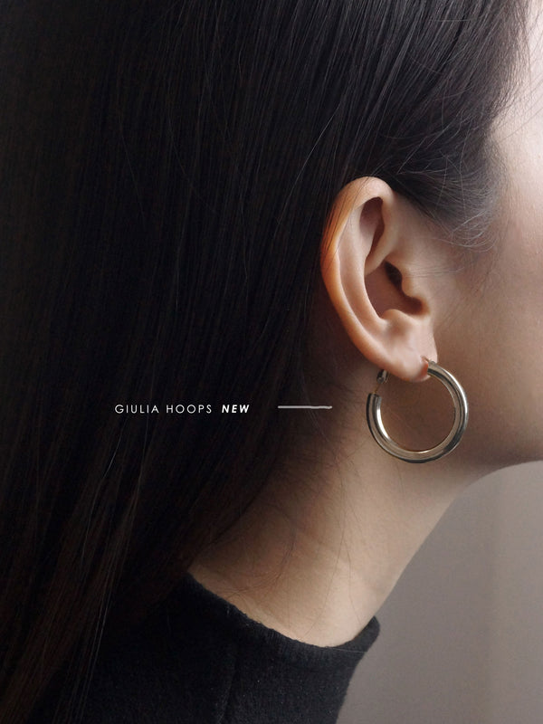 GABI EXCLUSIVE // Collection Italiano - Giulia Hoops - Silver
