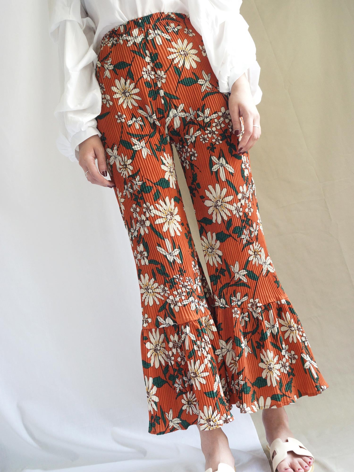 Jas Floral Bell Bottom Pants - Gabi The Label