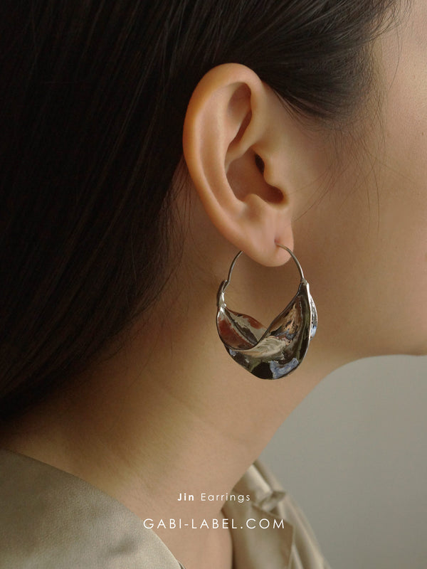 Jin Earrings - Silver