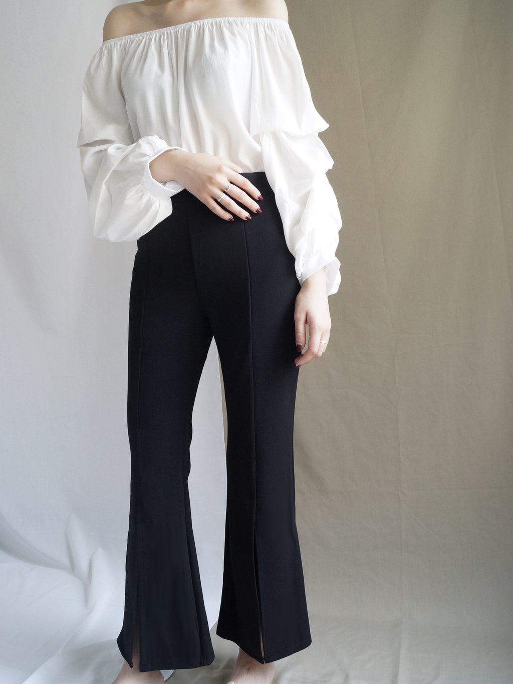 Jodi Black Bell Bottom Pants - Gabi The Label