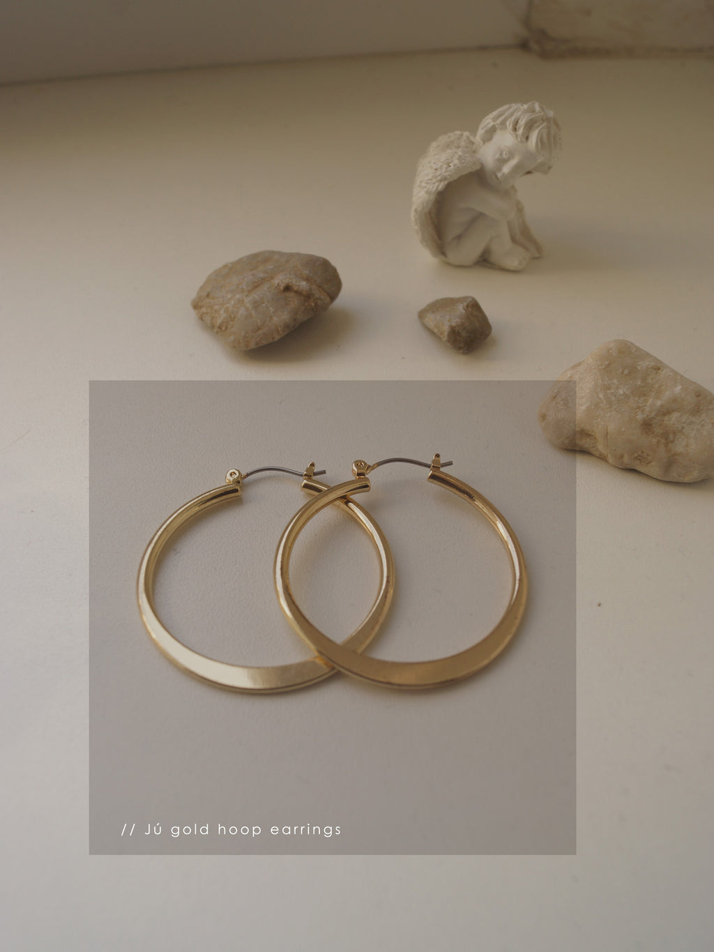 Jú Hoop Earrings - Gold
