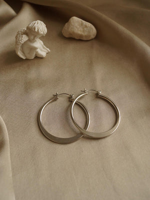 Jú Hoop Earrings - Silver