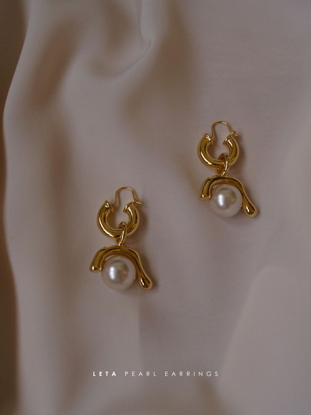 Leta Pearl Earrings (Gold-plated) *GABI PREMIUM