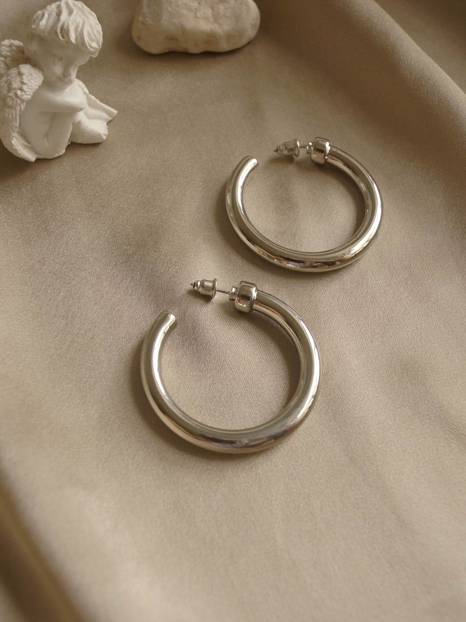 Ling Hoops  - Silver