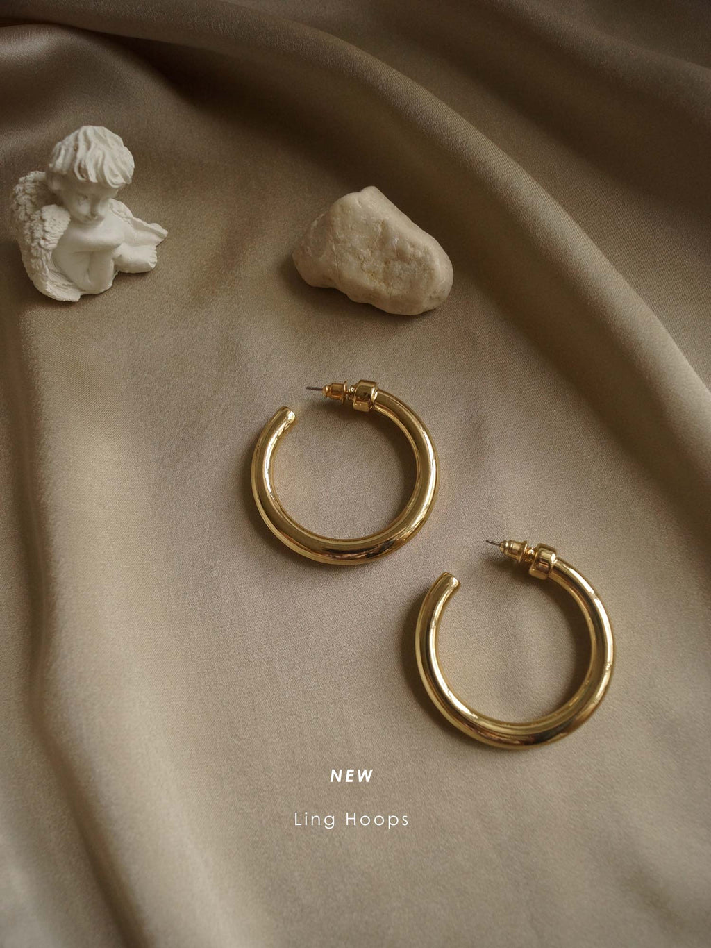 Ling Hoops - Gold