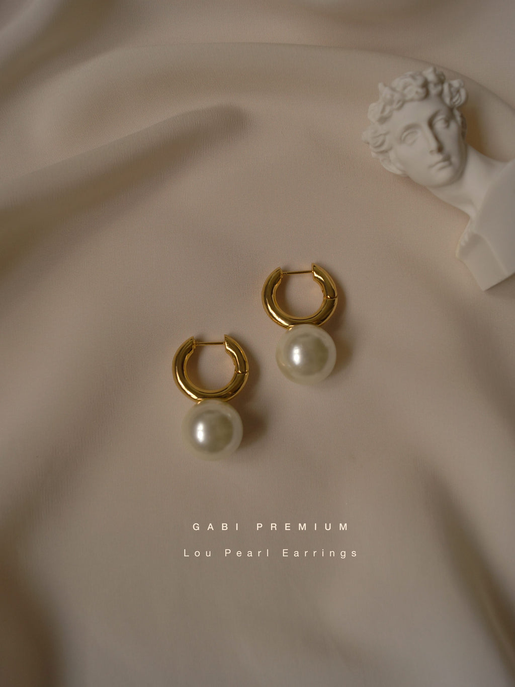 Lou Pearl Earrings (Gold-plated) *GABI PREMIUM
