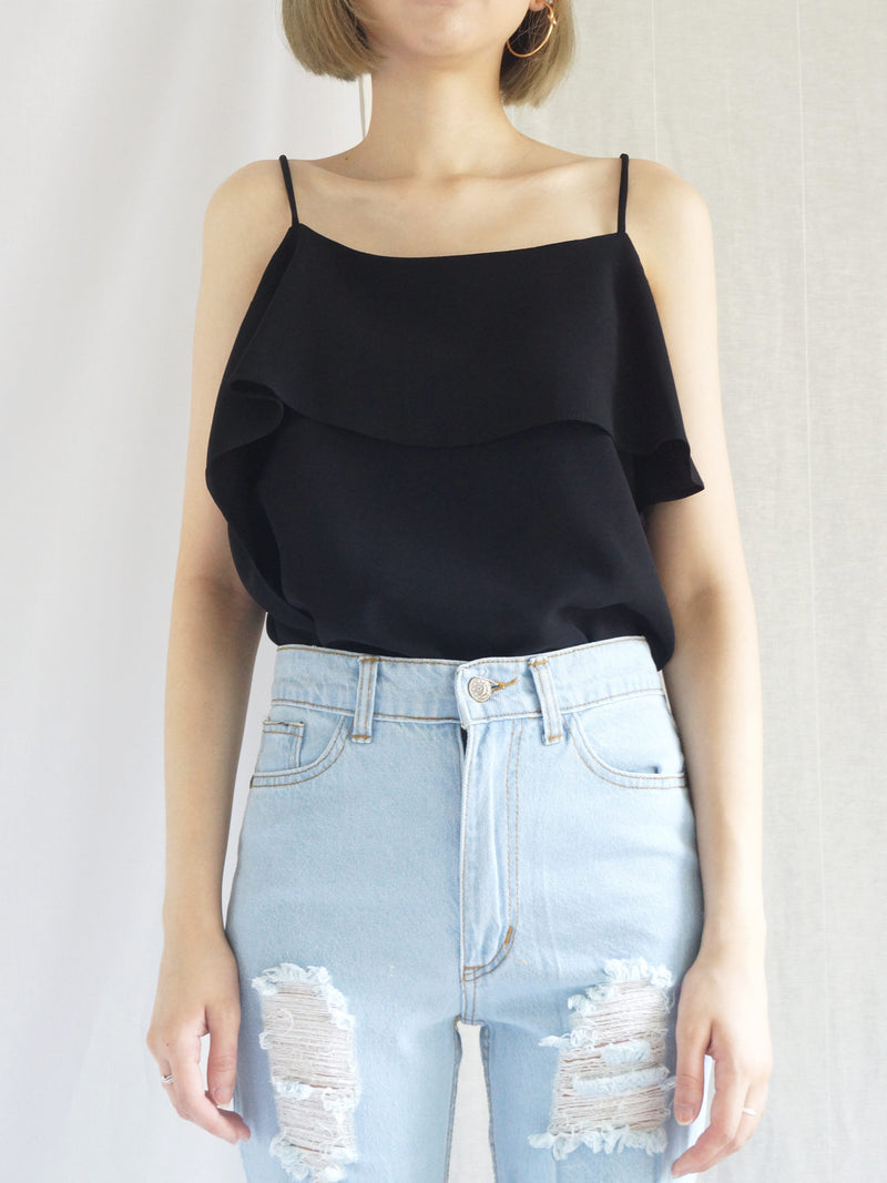 Mia Layered Top - Black - Gabi The Label