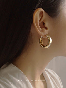 Mù Thick Hoops - Gold
