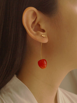 Petit Cher (Cherry) Earrings *Gold-plated stems