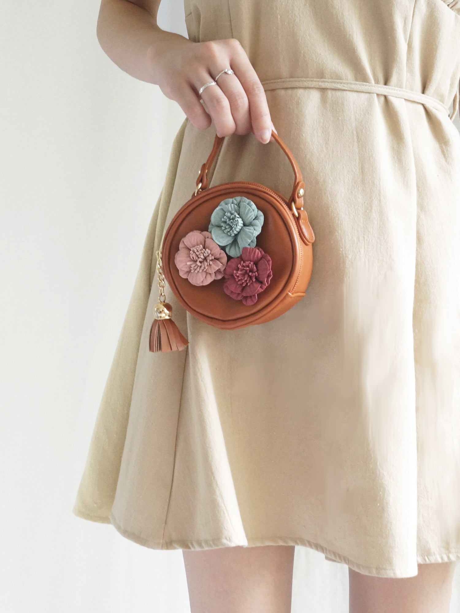 Petite Flora Bag - Brown - Gabi The Label
