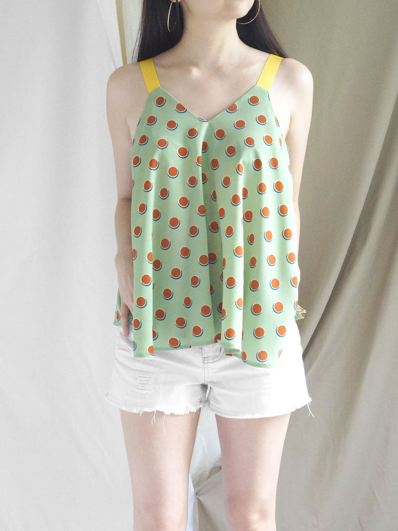 Polly Ribbon Top - Lime