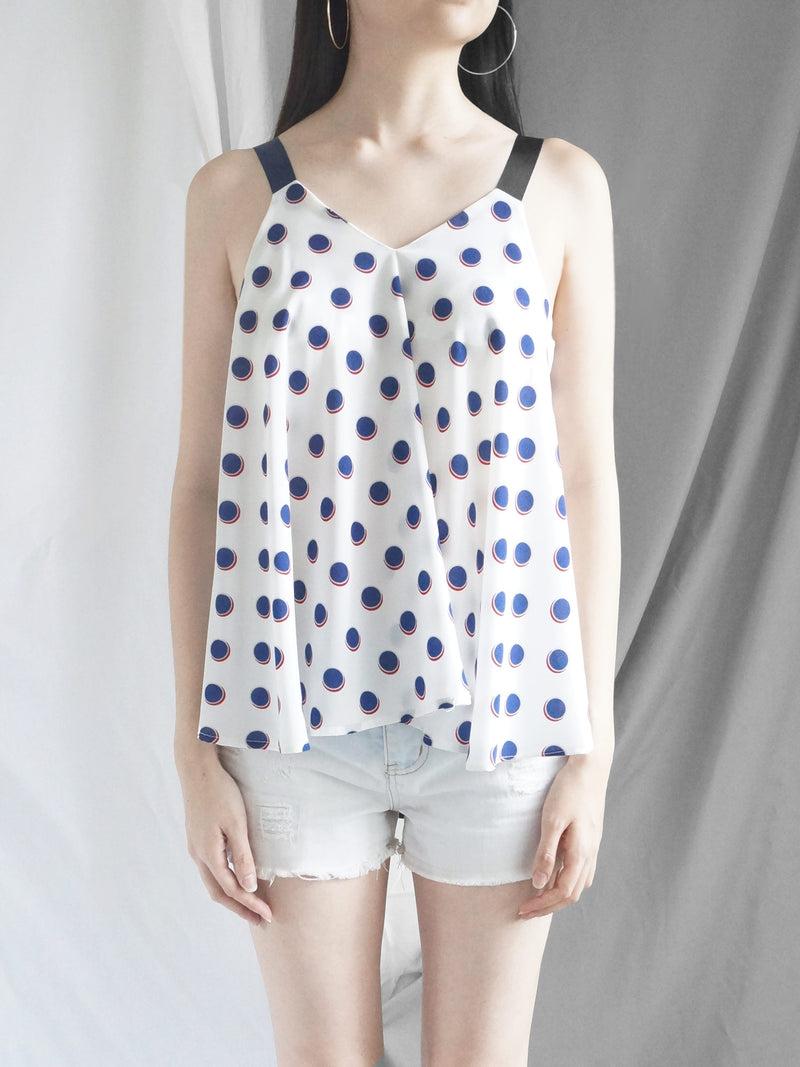 Polly Ribbon Top - White
