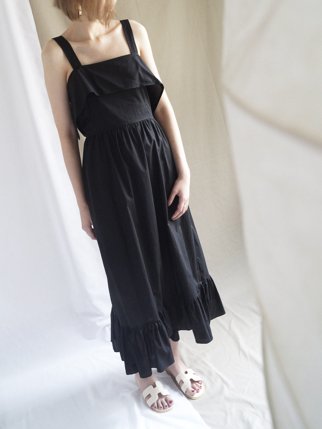Poppy Ribbon Dress - Black - Gabi The Label