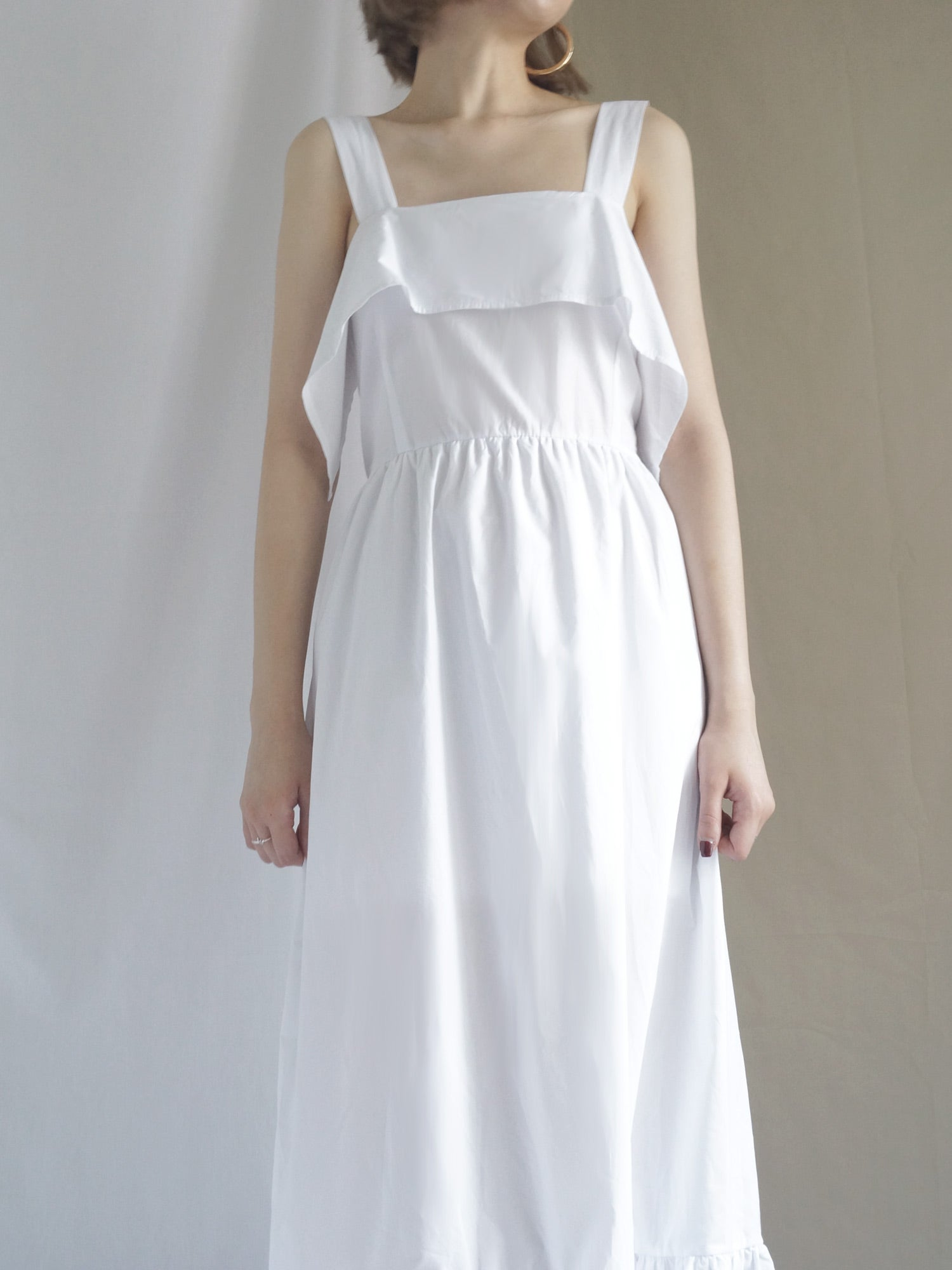 Poppy Ribbon Dress - White - Gabi The Label