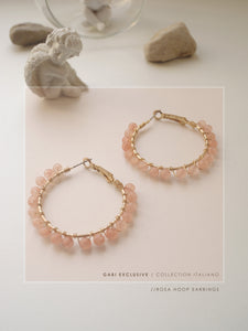 GABI EXCLUSIVE // Collection Italiano - Rosa Hoop Earrings