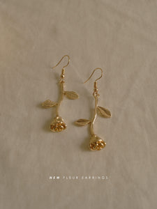 Fleur (Rose) Earrings