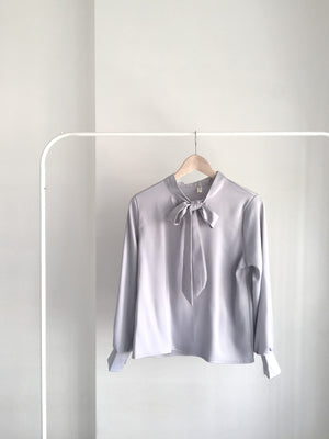 Rose Satin Ribbon Blouse - Gabi The Label
