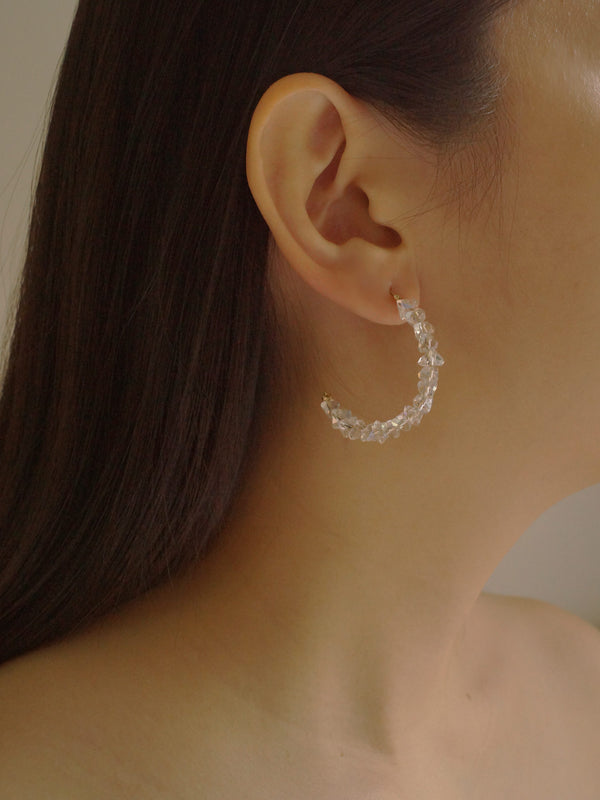 SANNE Crystal Hoops