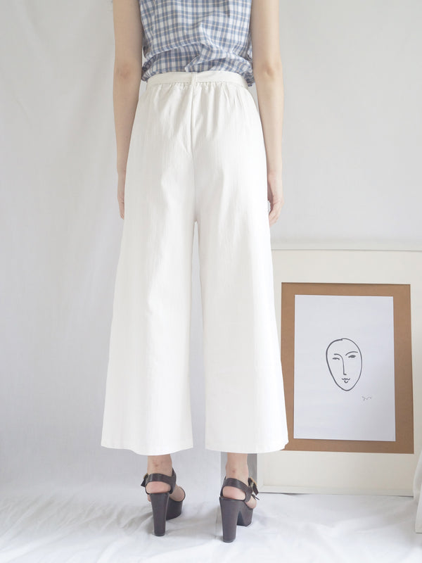 White Ribbon Pants