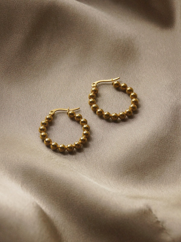 The Globular Hoops *18k Gold-plated