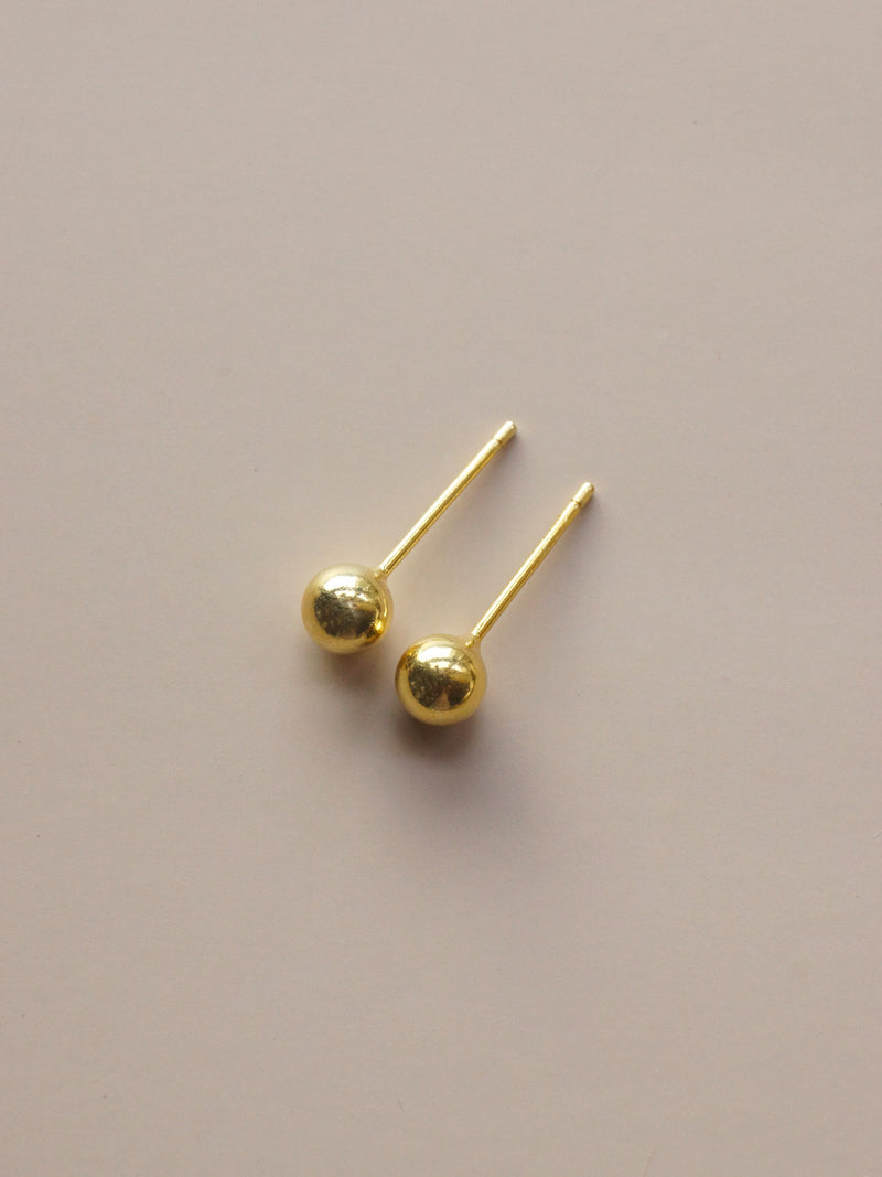 Ball Studs - Gold *14k Gold-plated