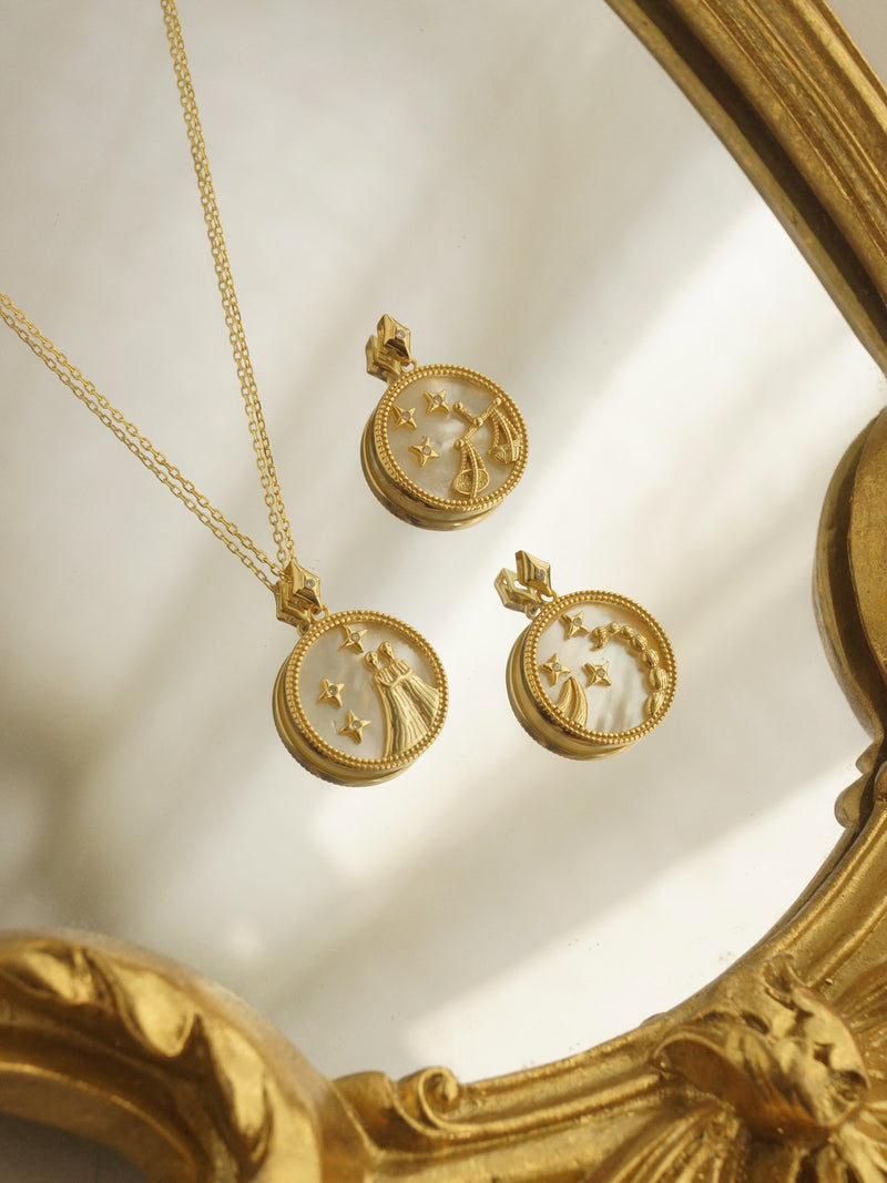 Horoscope Shell Necklace *Gold-plated S925