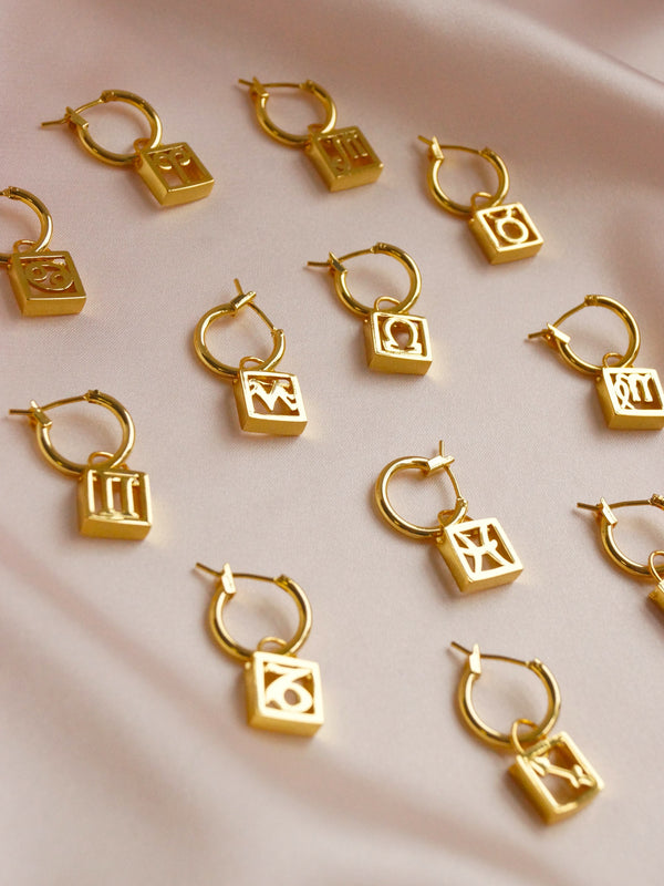 Horoscope Hoops *Gold-plated