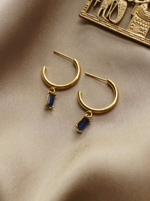 ILLUMINATE Hoops - Royal Blue *18K Gold-plated