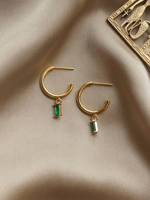 ILLUMINATE Hoops - Emerald Green *18K Gold-plated